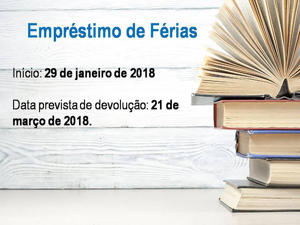Empréstimo de férias 2018- 1º semestre